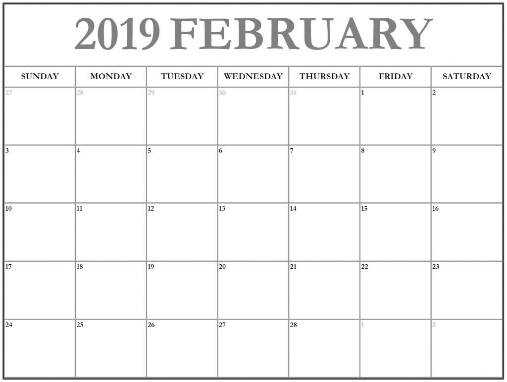 free february 2019 editable calendar template april 2019 calendar::February 2019 Calendar Fillable