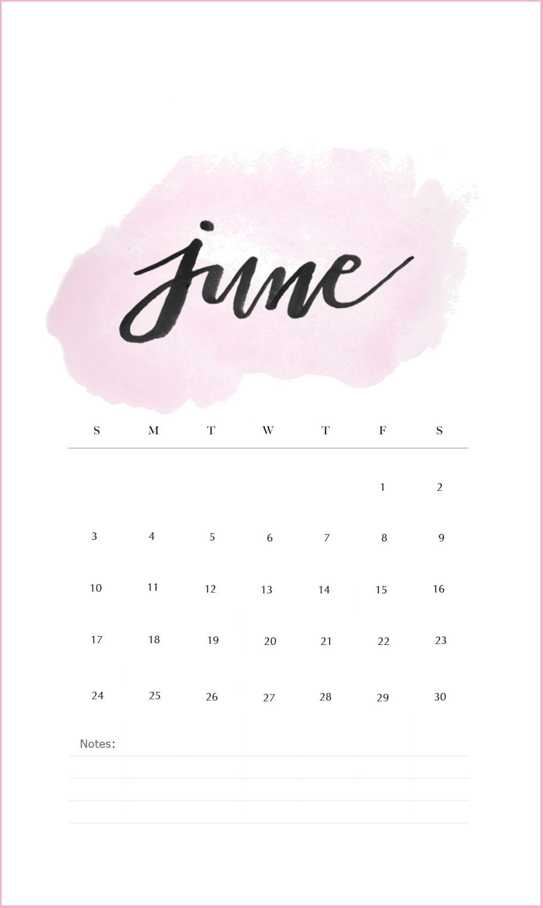 free june 2019 iphone calendar wallpaper ::June 2019 iPhone Calendar Wallpaper