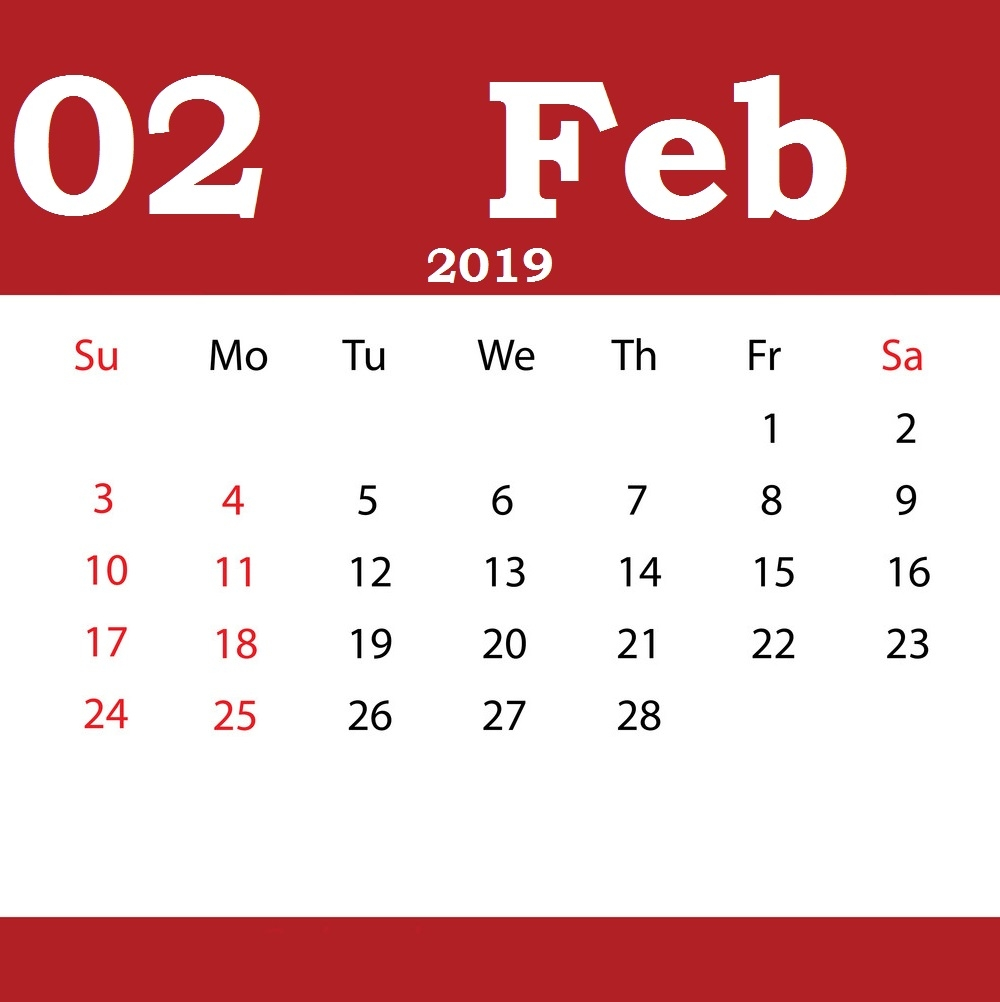 get free february 2019 editable calendar download february 2019::February 2019 Calendar Editable