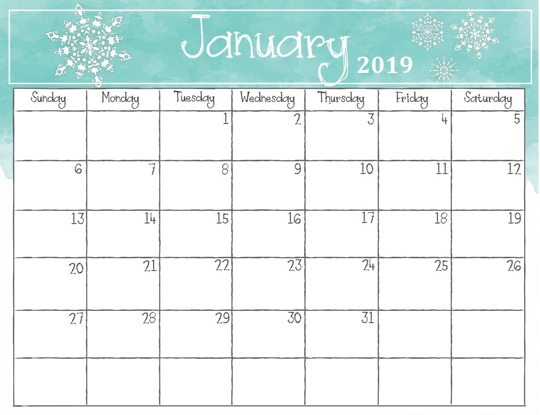 january 2019 calendar calendar 2019::January 2019 iPhone Calendar