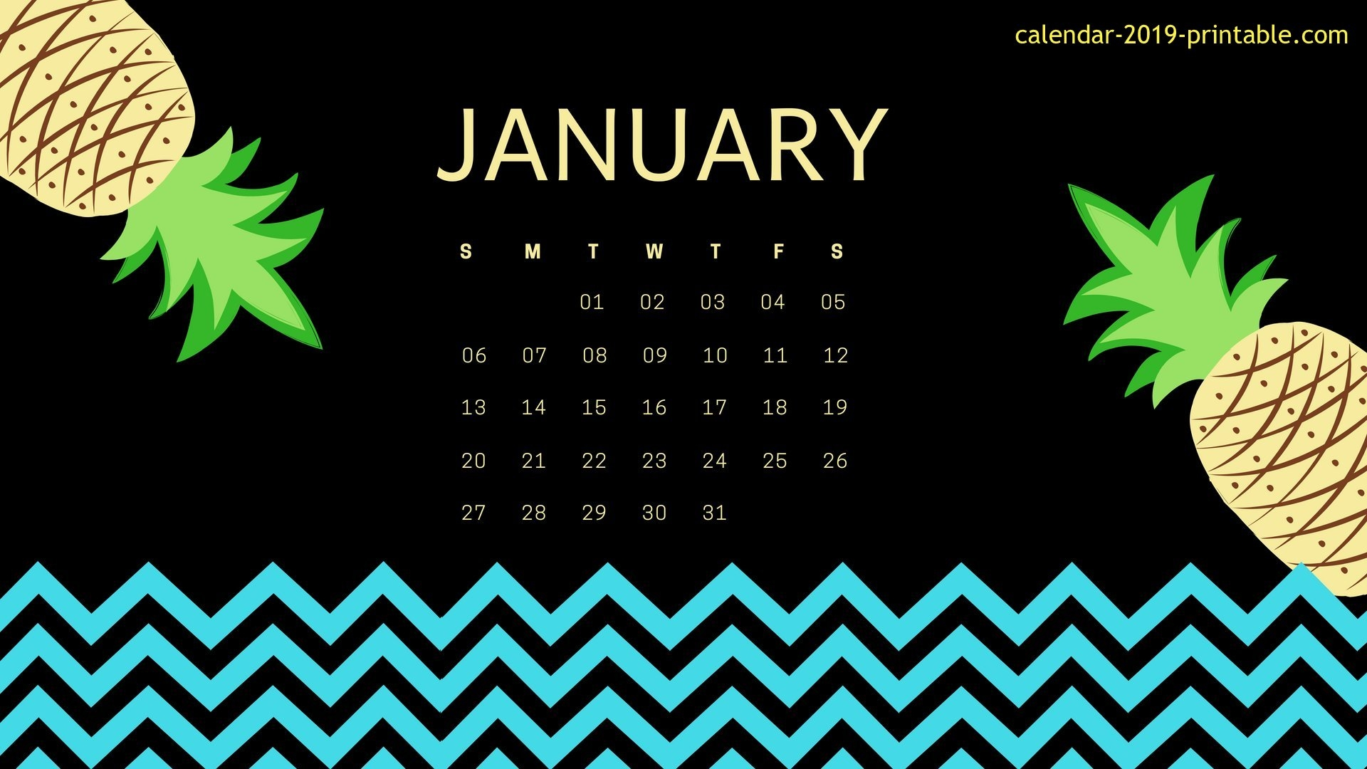 january 2019 calendar desktop wallpapers calendar 2019 printable::January 2019 Desktop Calendar Wallpaper