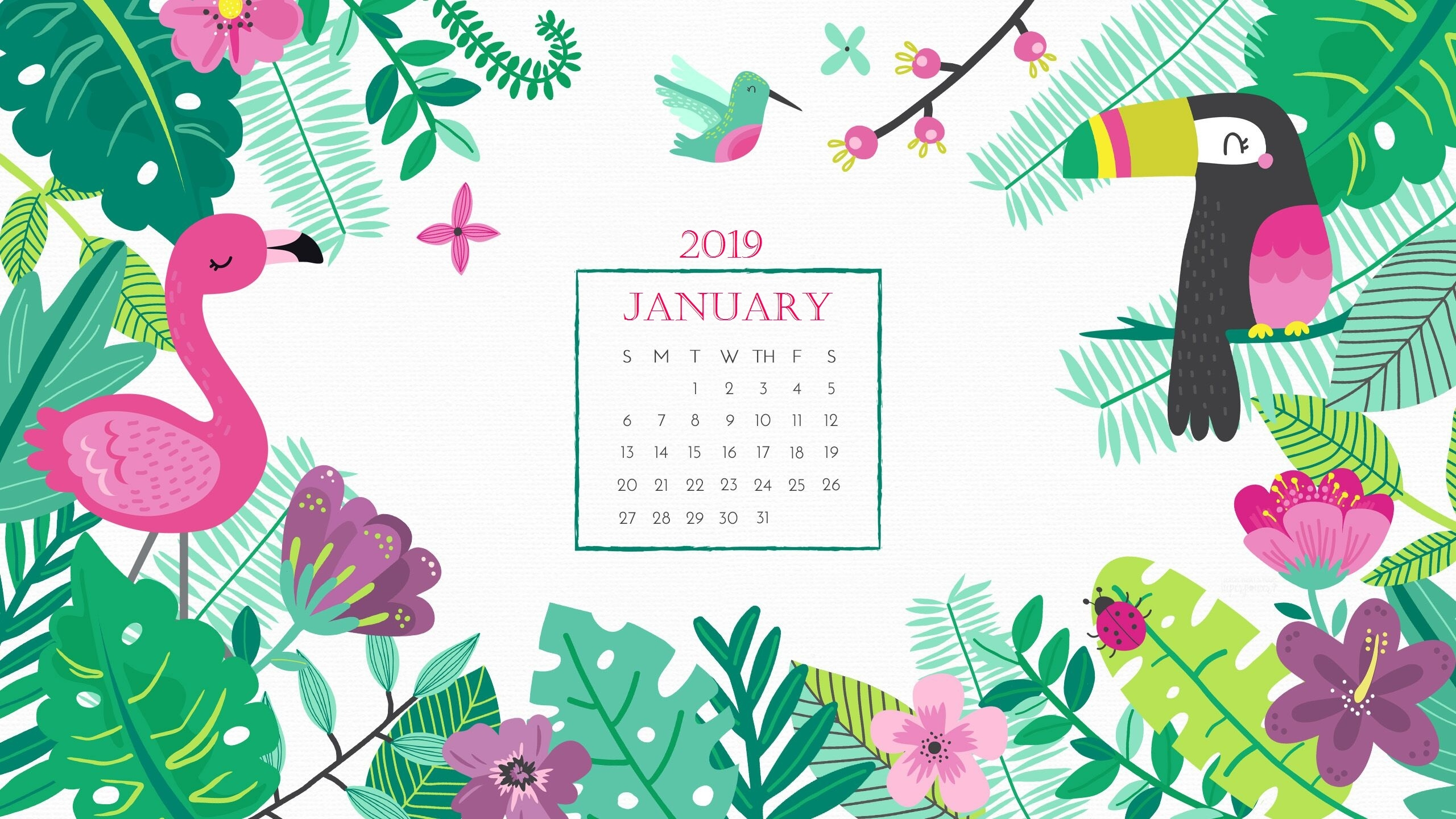 january 2019 calendar wallpaper calendar 2018::January 2019 Desktop Calendar Wallpaper