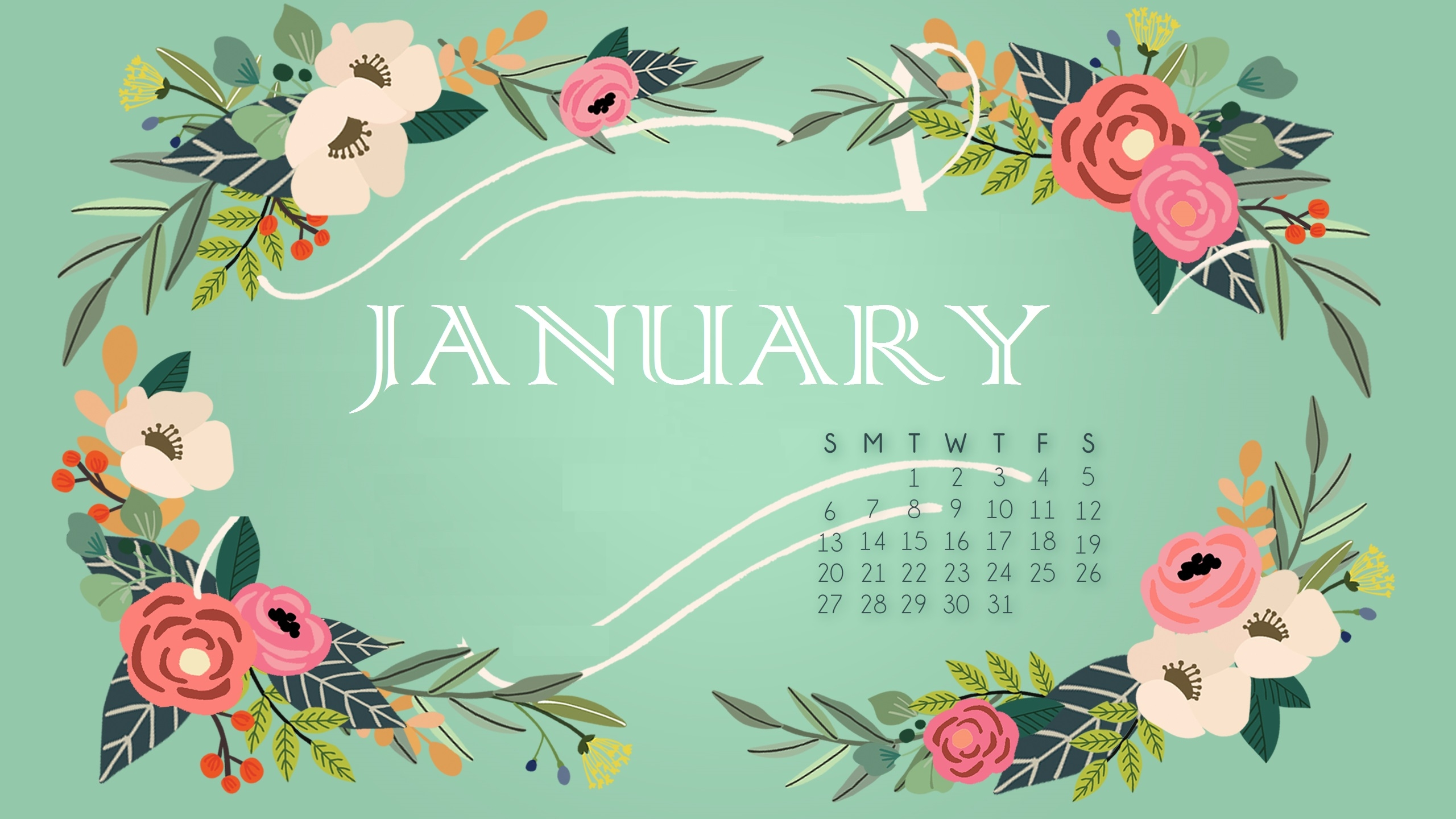 january 2019 calendar wallpaper::January 2019 iPhone Calendar