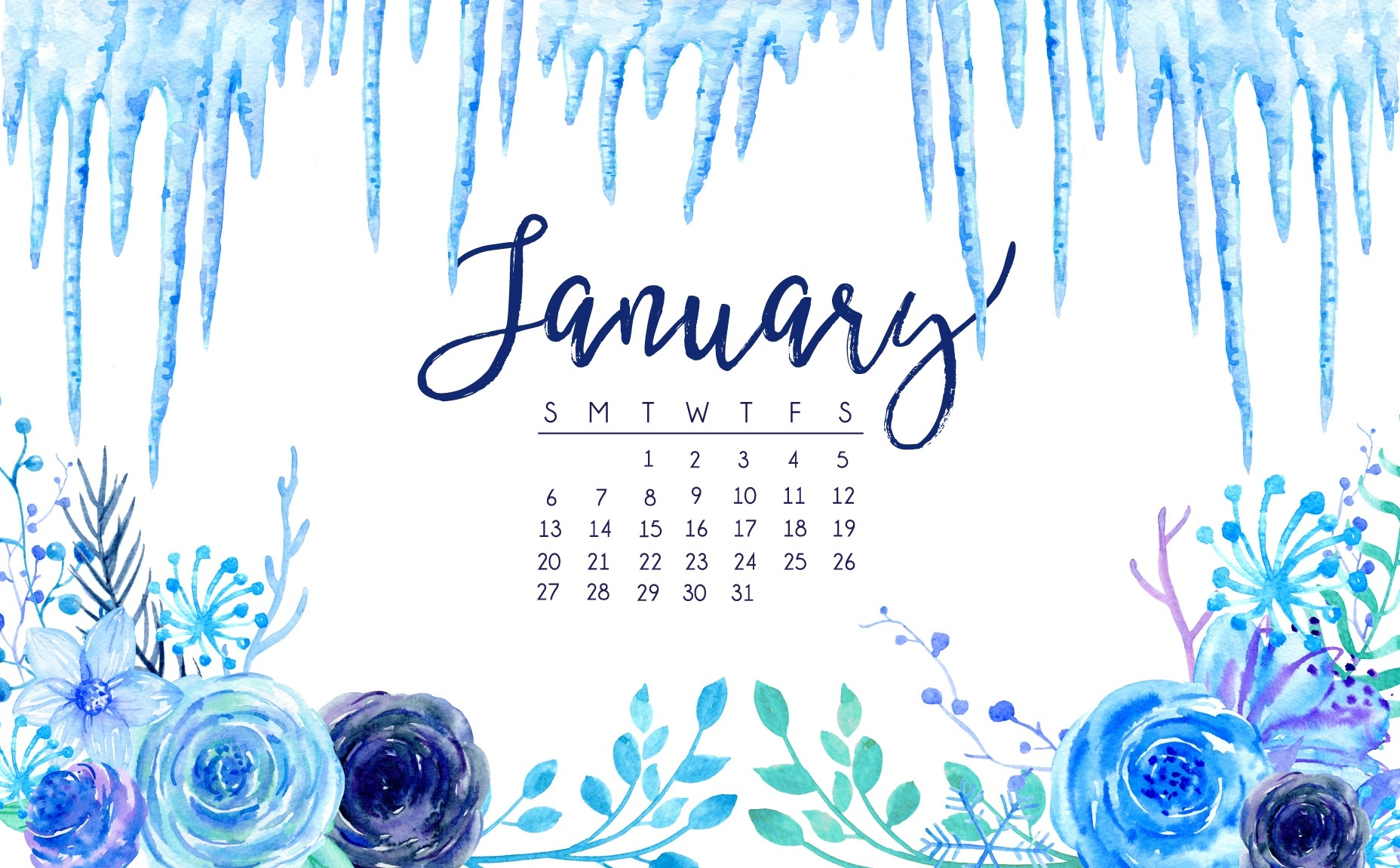 january 2019 hd calendar wallpapers latest calendar::January 2019 Desktop Calendar Wallpaper