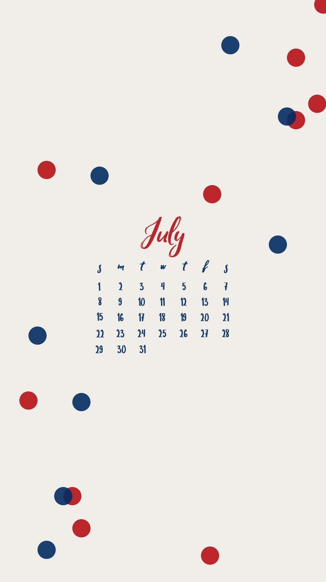 july 2019 iphone calendar design::July 2019 iPhone Calendar Wallpaper