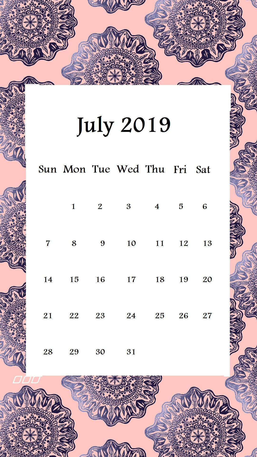 july 2019 iphone calendar wallpapers calendar 2019::July 2019 iPhone Calendar Wallpaper