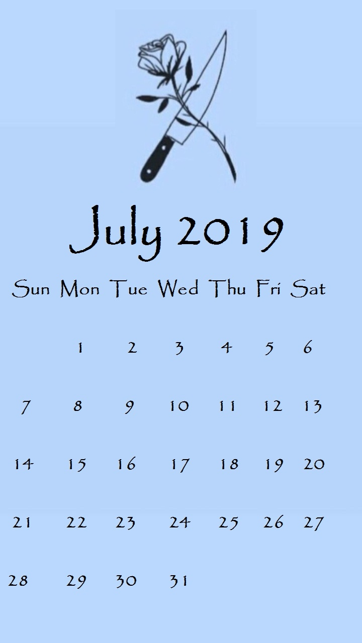 july 2019 iphone calendar wallpapers::July 2019 iPhone Calendar Wallpaper