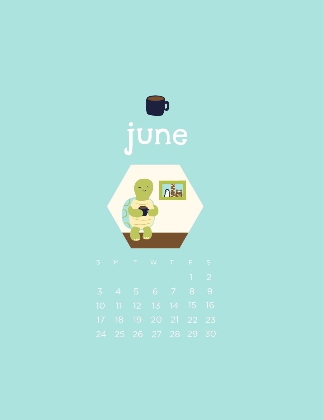 june 2018 iphone calendar wallpapers for background calendar 2018::June 2019 iPhone Calendar Wallpaper
