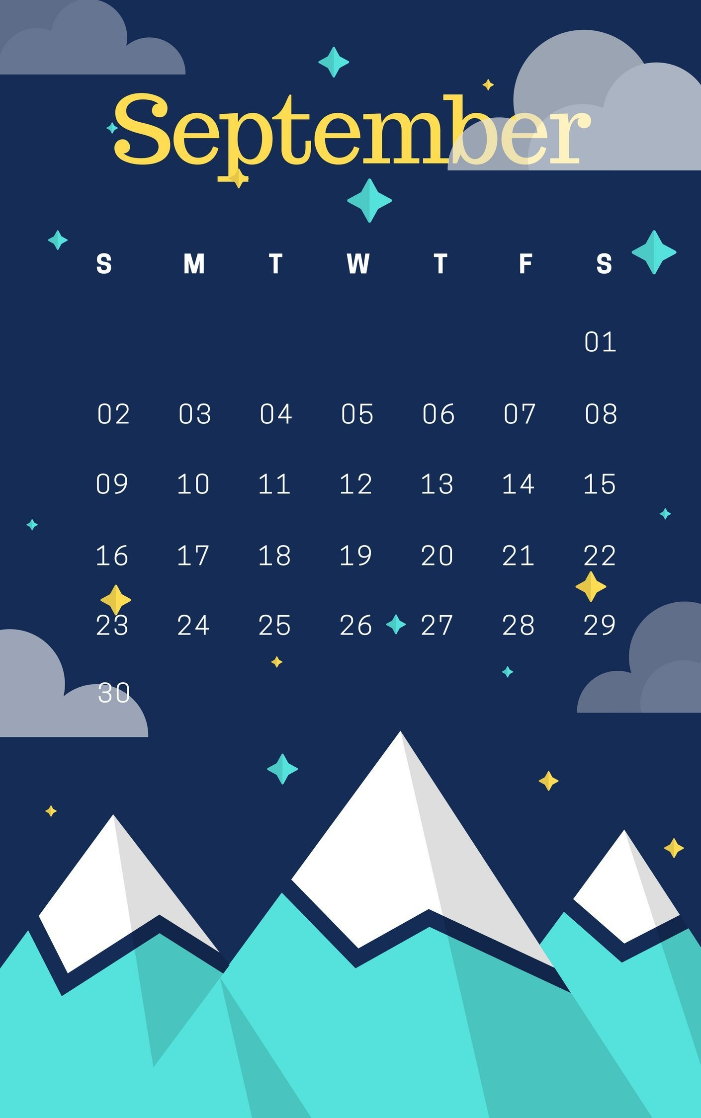 latest september 2018 iphone wallpaper iphone calendars in 2018::September 2019 iPhone Wallpaper Calendar