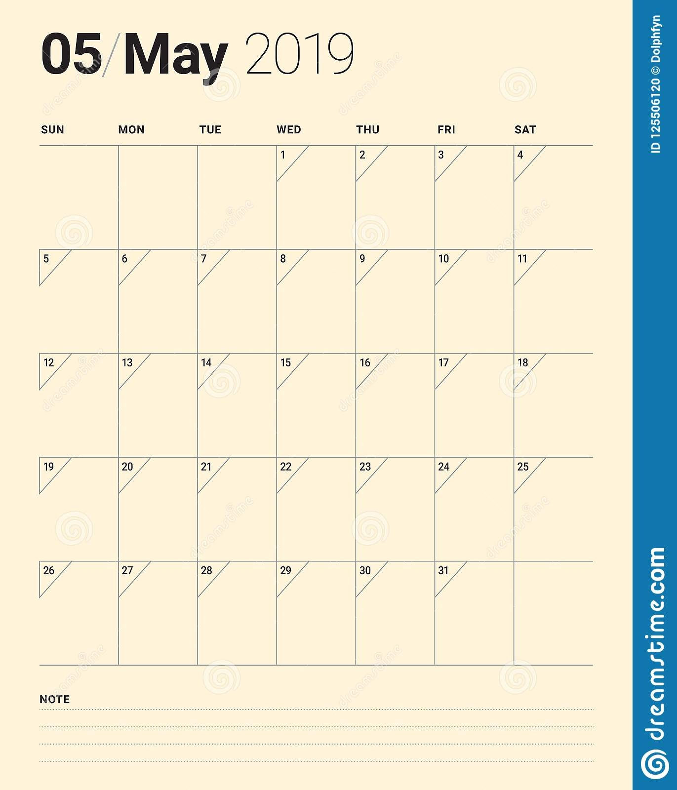 may 2019 desk calendar vector illustration stock vector::May 2019 Desk Calendar