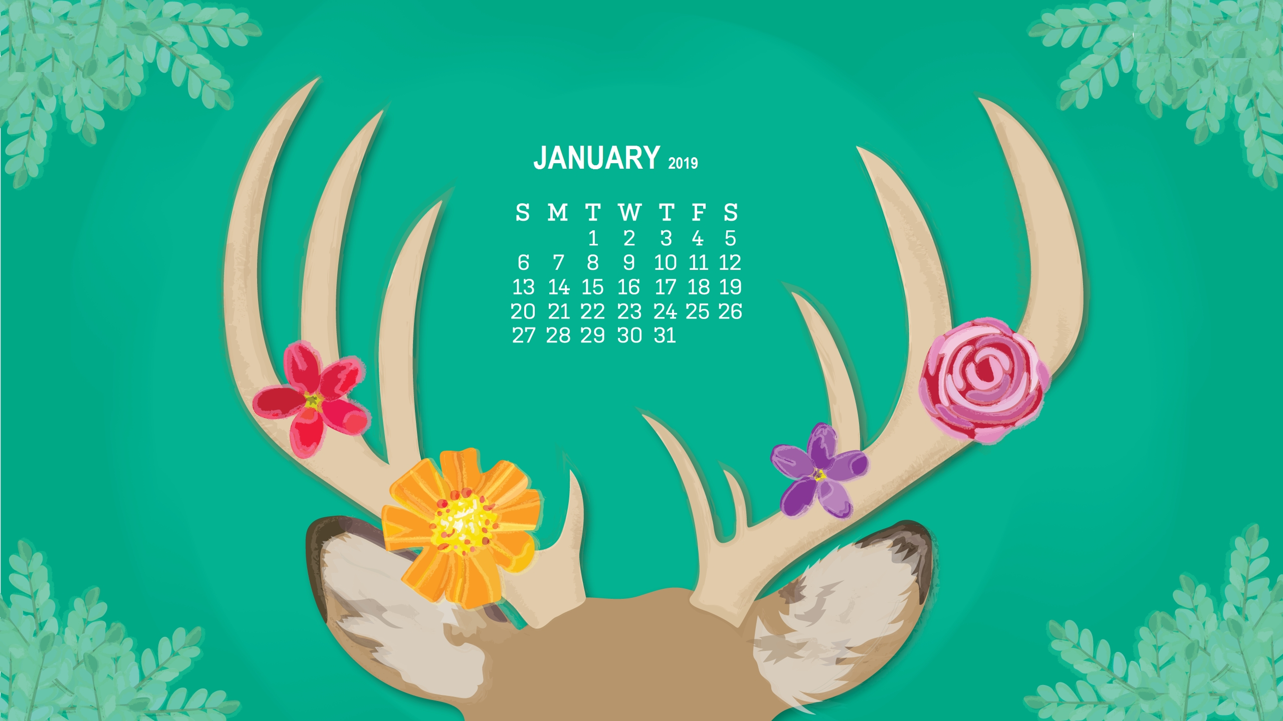 monthly desktop calendar 2019 wallpapers calendar 2019::January 2019 Desktop Calendar Wallpaper