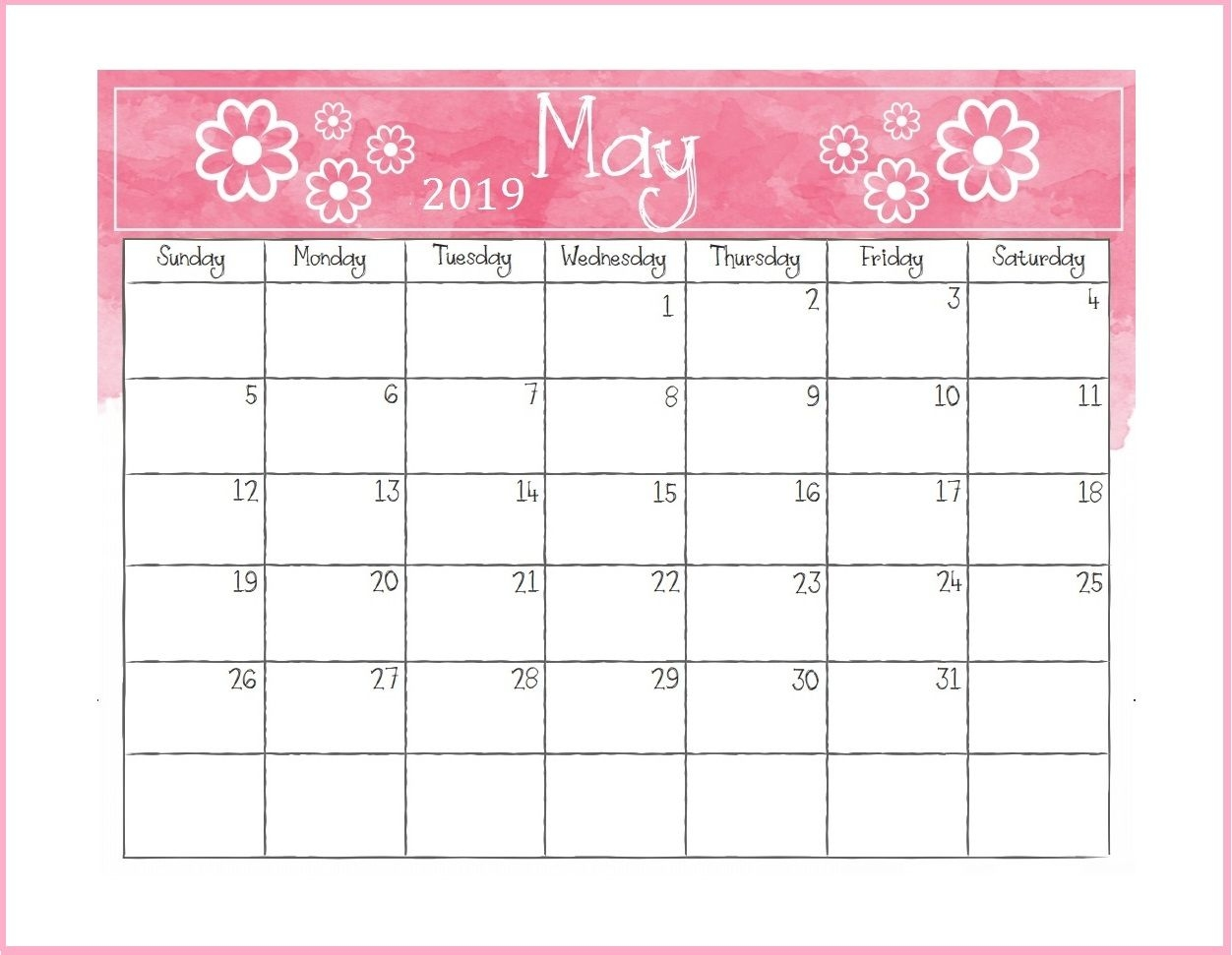 printable may 2019 desk calendar monthly calendar templates::May 2019 Desk Calendar