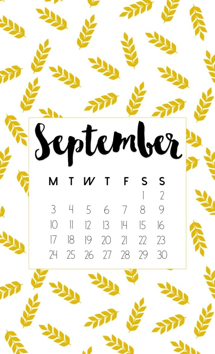 september 2018 calendar for iphone calendar 2018 in 2018::September 2019 iPhone Wallpaper Calendar