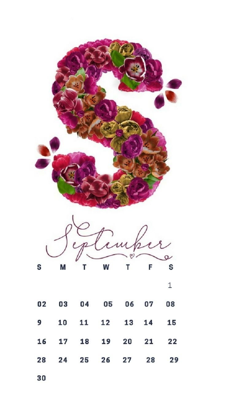 september 2018 iphone 7 calendar wallpapers calendar iphone::September 2019 iPhone Wallpaper Calendar