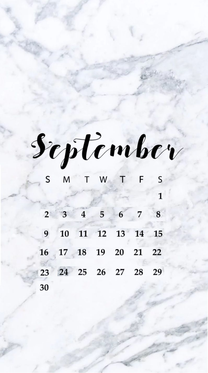 september 2018 iphone hd calendar monthly calendars pinterest::September 2019 iPhone Wallpaper Calendar