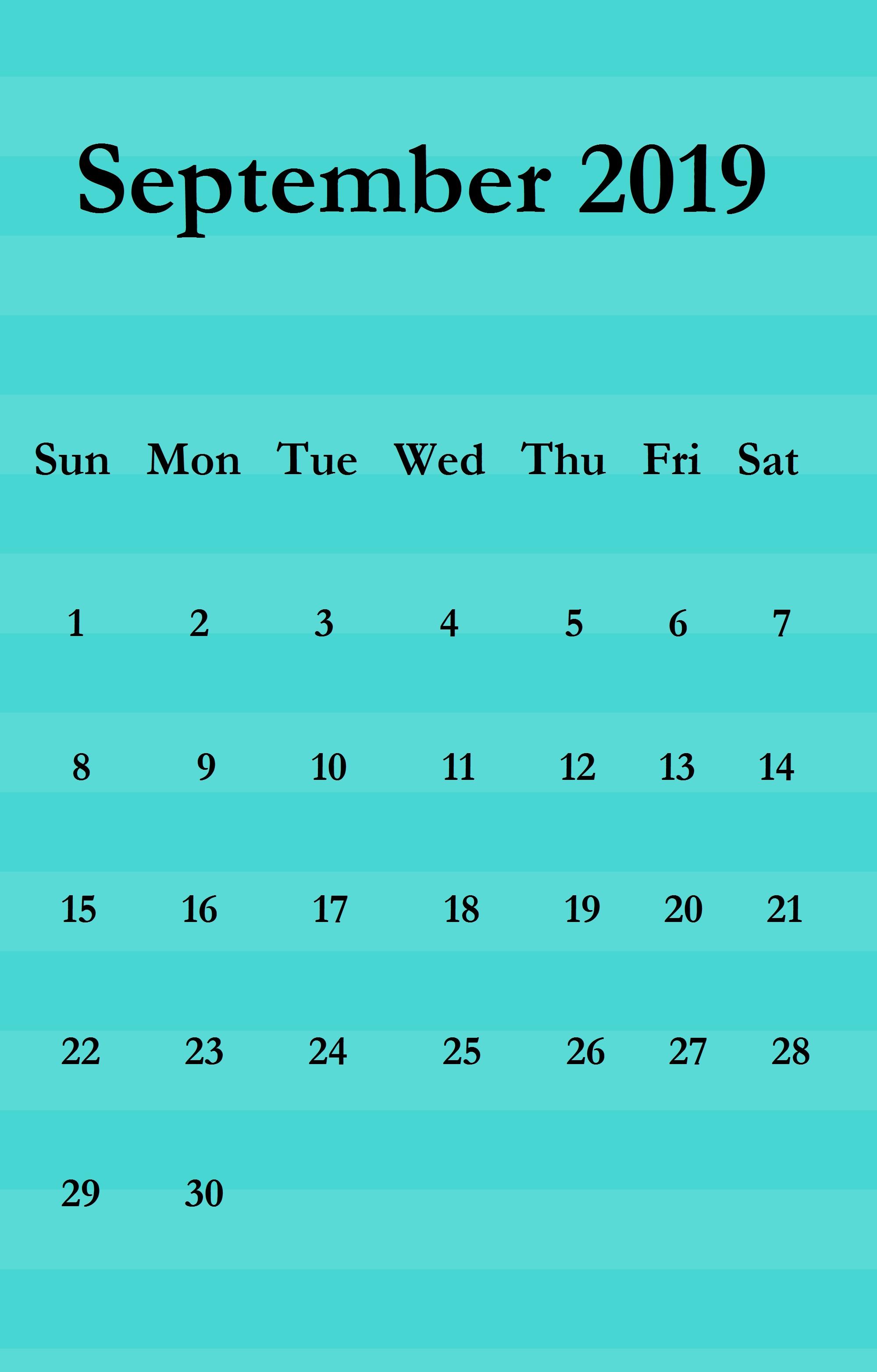 september 2019 iphone wallpaper calendar calendar 2019::September 2019 iPhone Wallpaper Calendar