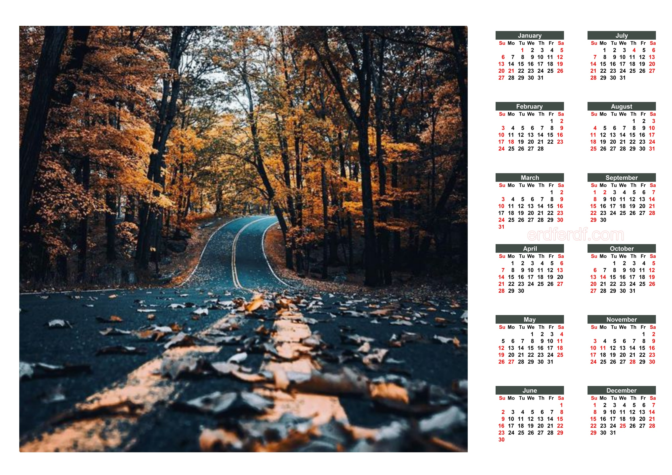 2 Printable 2019 Calendar With Federal Holidays