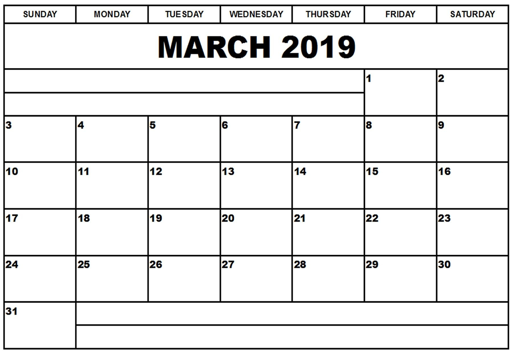 blank printable calendar march 2019 ::Blank Calendar 2019 Template