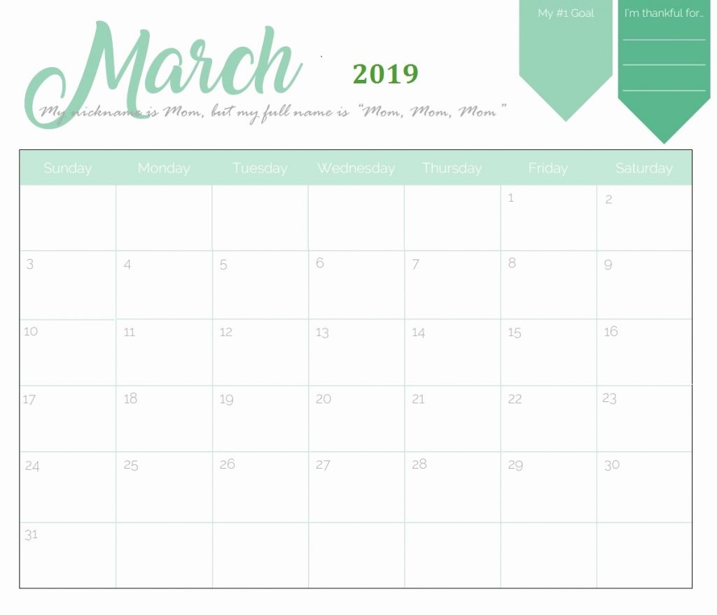 free printable calendar 2019 templates download 2019 january 2019::Blank Calendar 2019 Template