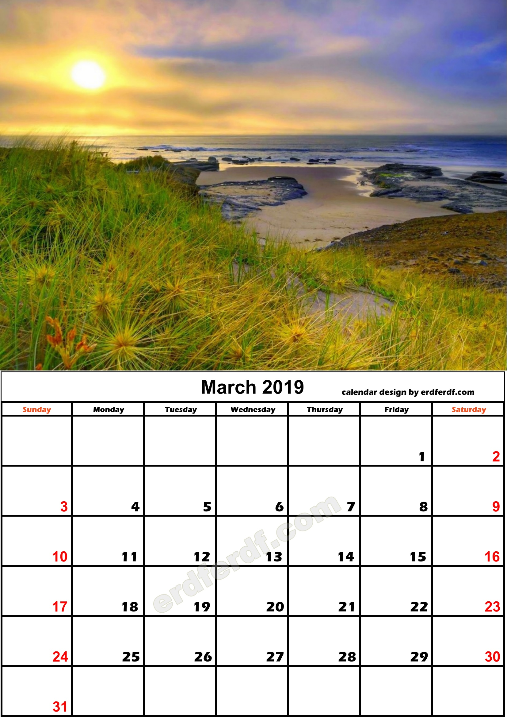 3 March Nature Calendar Monthly 2019 Free Download