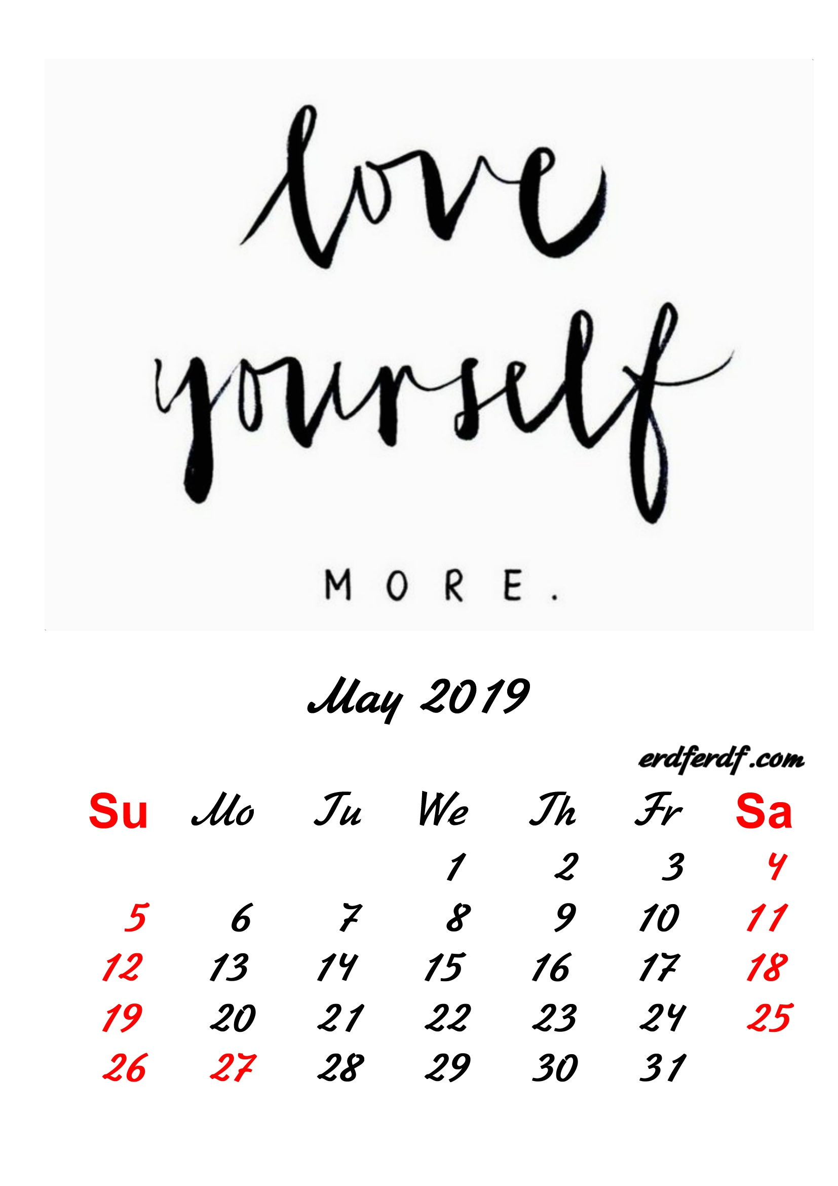 5 May 2019 Inspirational Quotes Pprintable Calendar