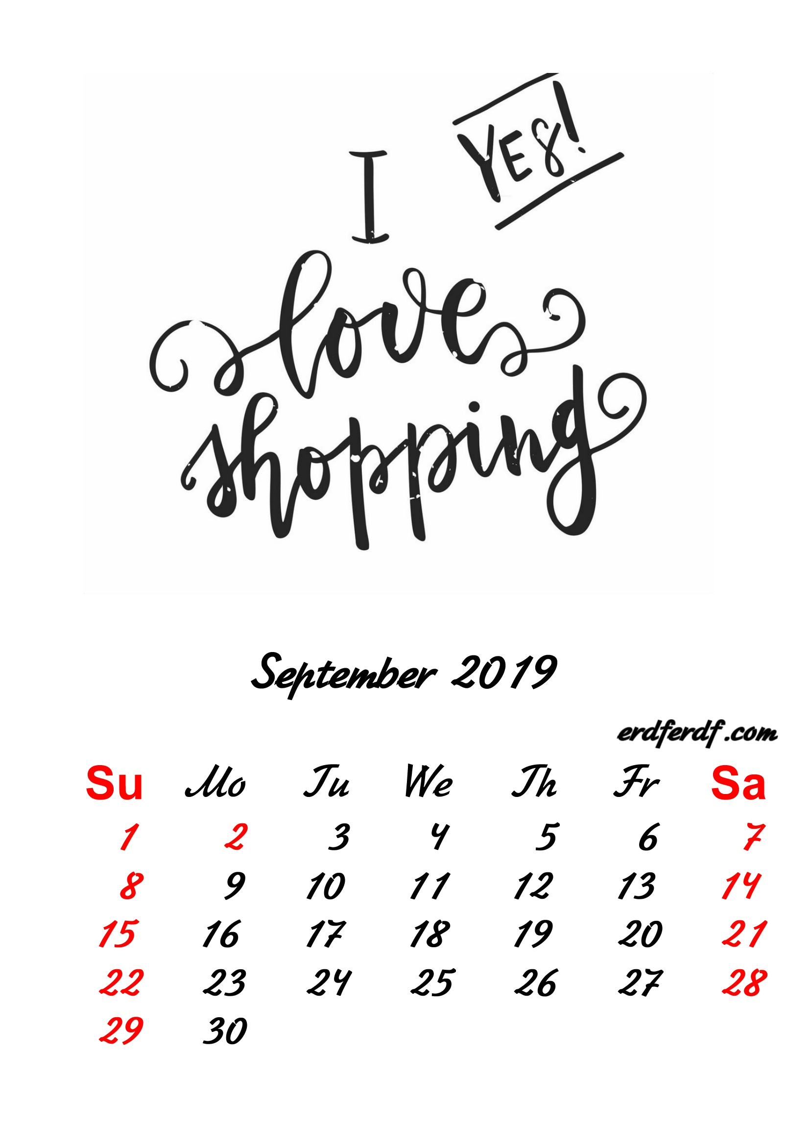 9 September 2019 Inspirational Quotes Pprintable Calendar