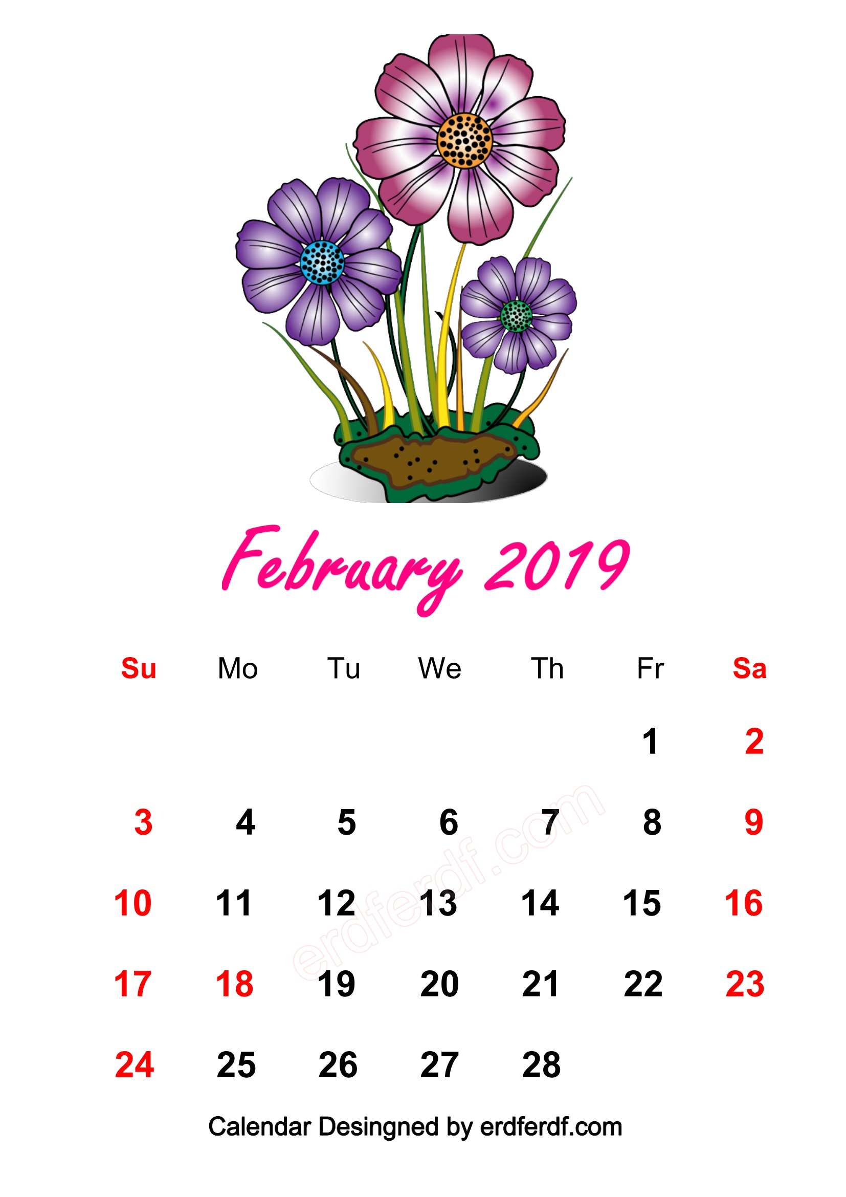 4 February 2019 HD Calendar Wallpapers
