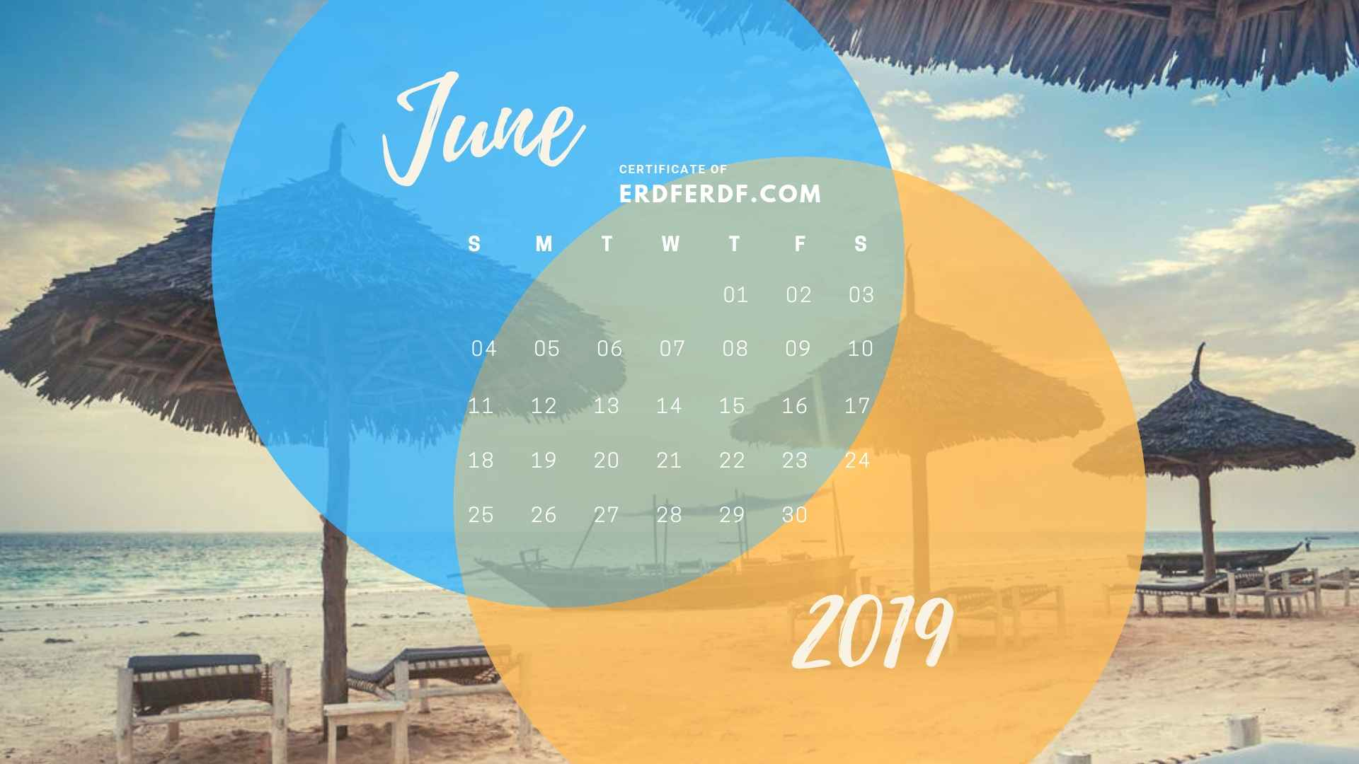 Five Calendar June 2019 Nature Template Printable 4