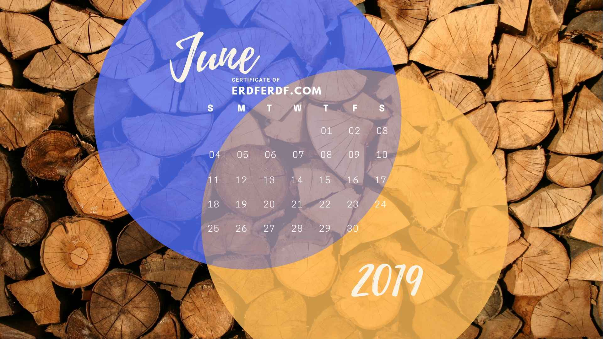 Calendar June 2019 Nature Template Printable