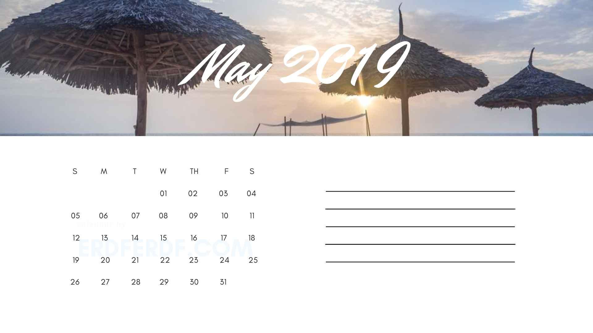 Printable May 2019 Calendar Printable