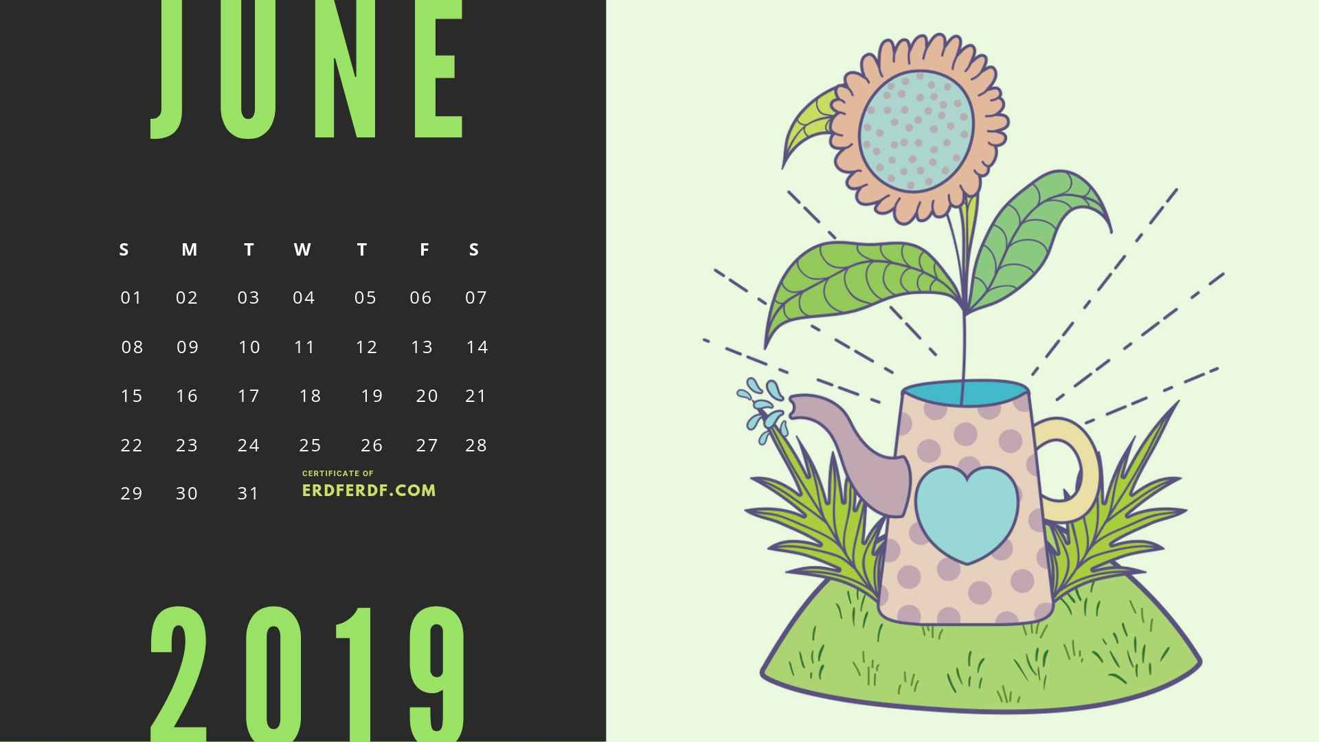 Six Calendar May 2019 Floral Vector Printable Free