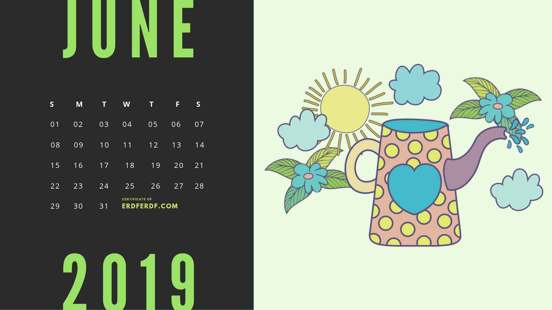 Six Calendar May 2019 Floral Vector Printable Free 3