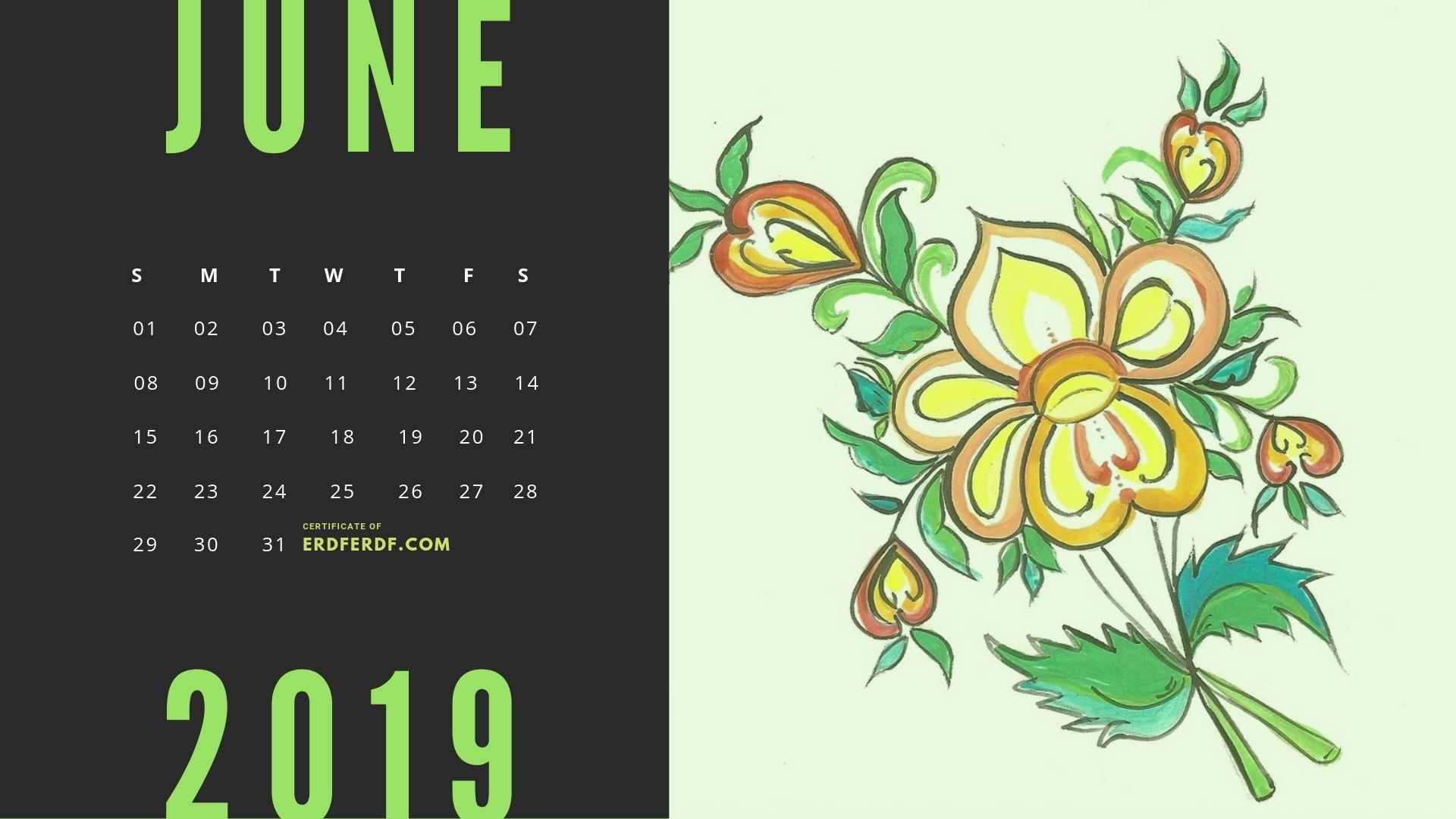 Six Calendar May 2019 Floral Vector Printable Free 5