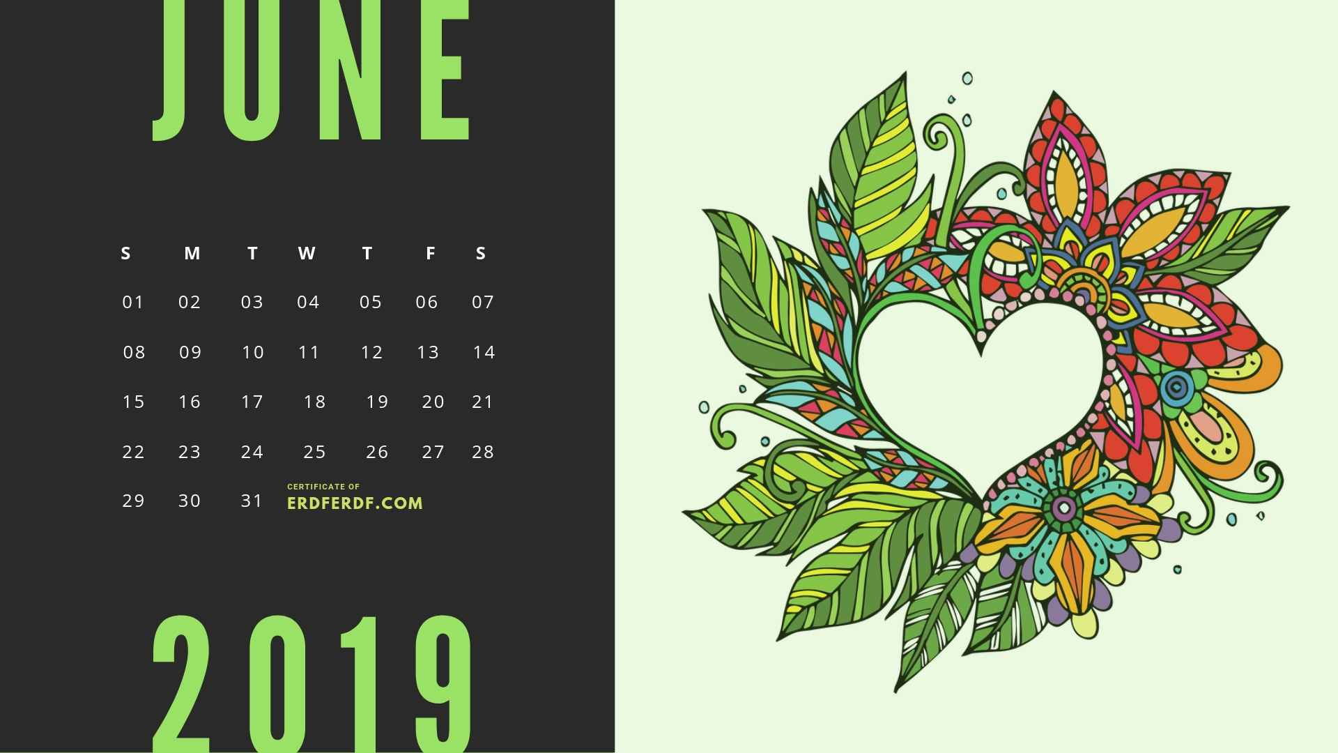 Six Calendar May 2019 Floral Vector Printable Free 6