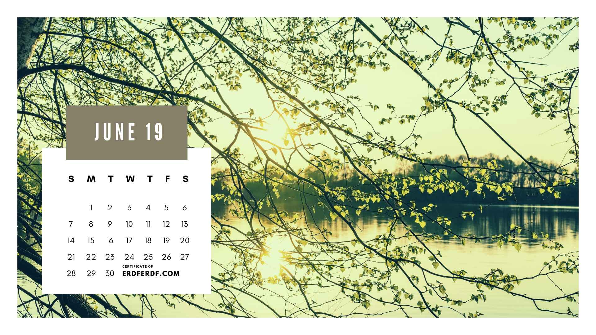 Ten Calendar June 2019 Spring Flower Template Printable 9