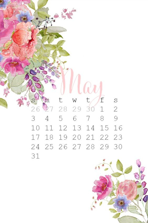 May Iphone Calendar Wallpaper Cute Free