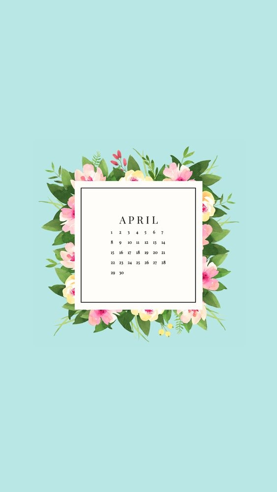 April Iphone Calendar Wallpaper in HD Quality