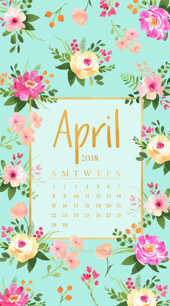 April Iphone Calendar Wallpaper