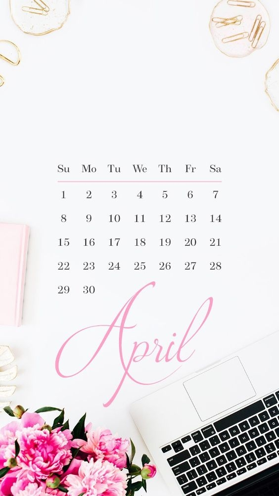 April Iphone Calendar Wallpaper in HD Quality 2