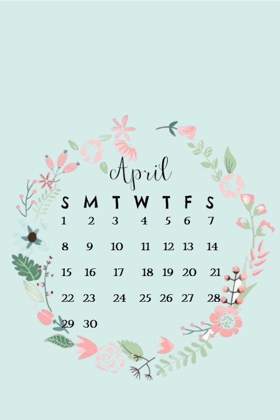 April Iphone Calendar Wallpaper in HD Quality 5