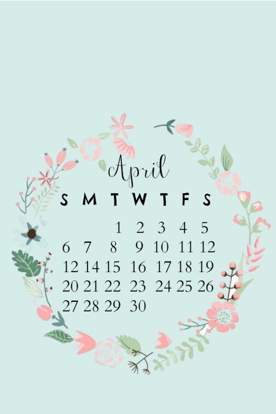 April Iphone Calendar Wallpaper in HD Quality 6