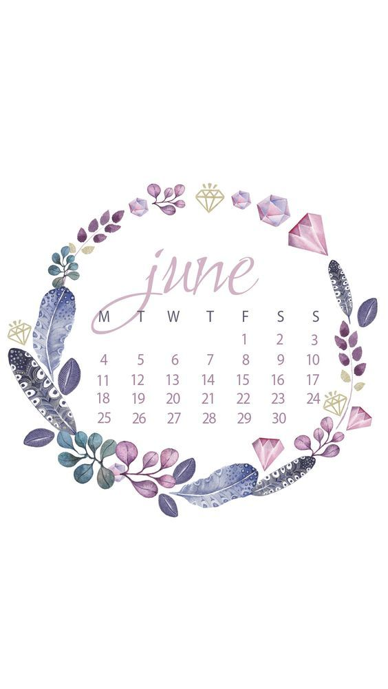 Floral Cute June Iphone Calendar Wallpaper