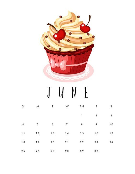 Ice Cream Cute June Iphone Calendar Wallpaper