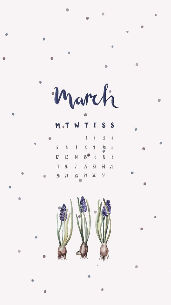 March Iphone Calendar Wallpaper