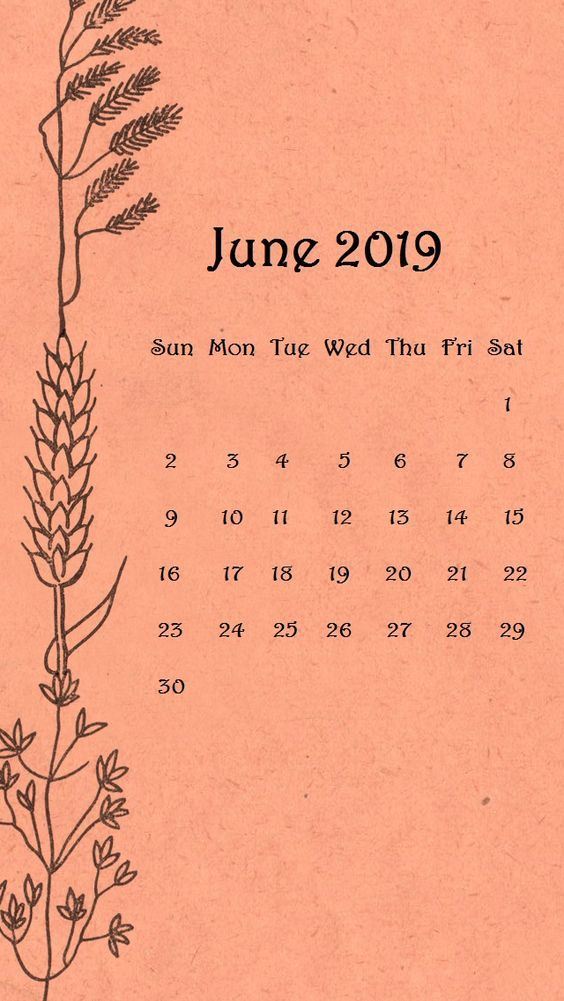 Orange Cute June Iphone Calendar Wallpaper