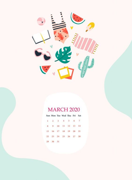 Calendar March 2020 Iphone Background Wallpaper