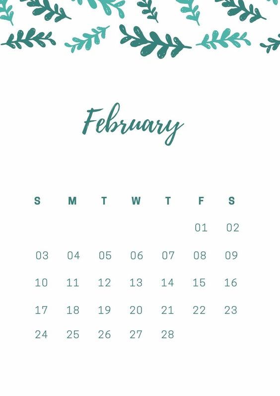The Best February 2020 Calendar For Me