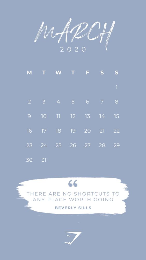 March 2020 calendar wallpaper Popular Printable