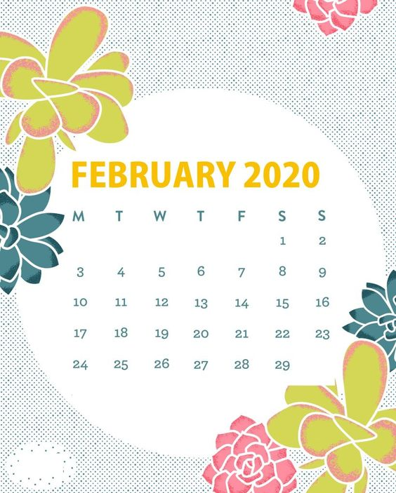 February 2020 Iphone Calendar Very Cute For You