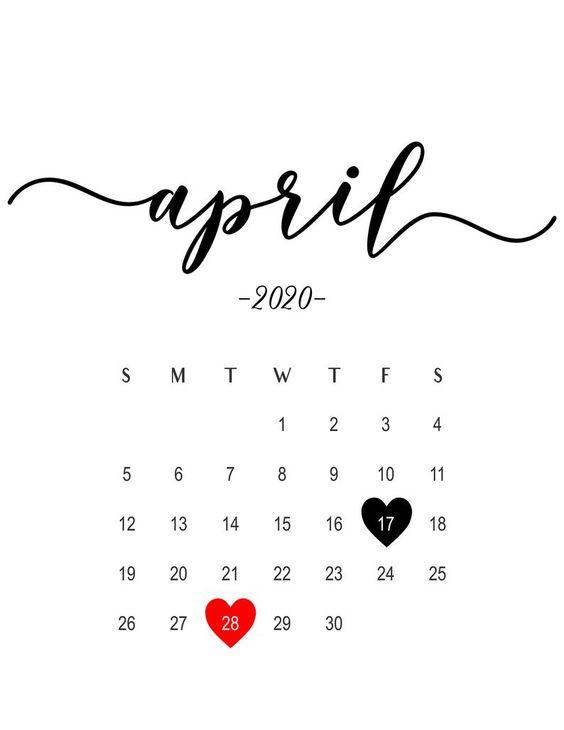 April 2020 Custom Calendar Ideas